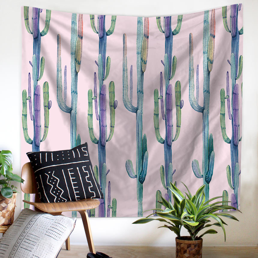 Image 5 - Plant Cactus Window Tapestry Macrame Wall Hanging Beach Towel Sitting Blanket Mexican Home Decoration Boho College Dorm Decor-in Tapestry from Home & Garden