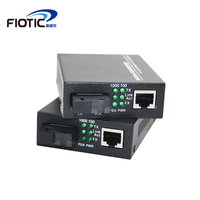 1 pair gigabit fibra optical to rj45 1000Mbps media converter Singlemode fiber to ethernet switch Single fiber Transceiver