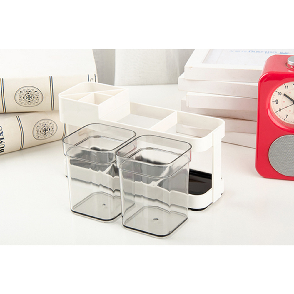 Two Removable Toothbrush Box Holder Cup Bathroom Storage Toilet Dental Liances Seat Creative Supplies In Baskets From