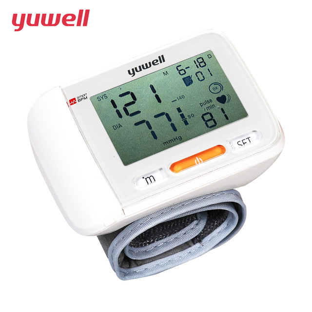 Yuwell Wrist Blood Pressure Monitor Medical Health Equipment LCD Digital Automatic Blood Pressure Measurement Health Care 8600A