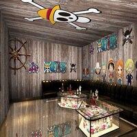 3Dpapel De Parede Seamless Wood Between Large Mural Retro Piece Bar Lounge Theme Ktv Package Children