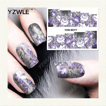 YZWLE 1 Sheet DIY Nails Art Deals Water Transfer Printing Stickers Accessories For Manicure Salon YZW-8077