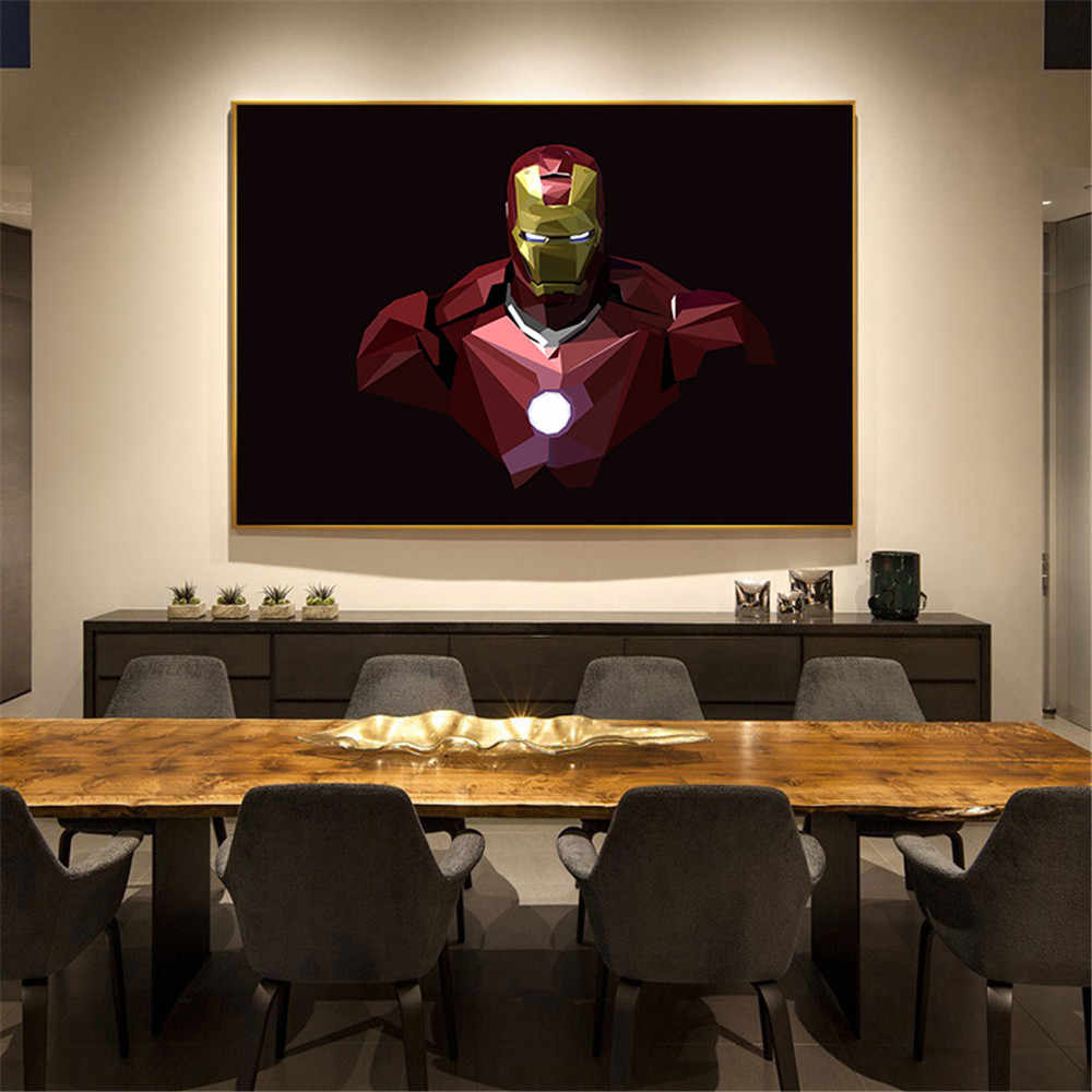 Modern famous movie Poster vintage retro poster iron man bat man Canvas Painting Nursery Art Prints Wall Picture for Kids Room