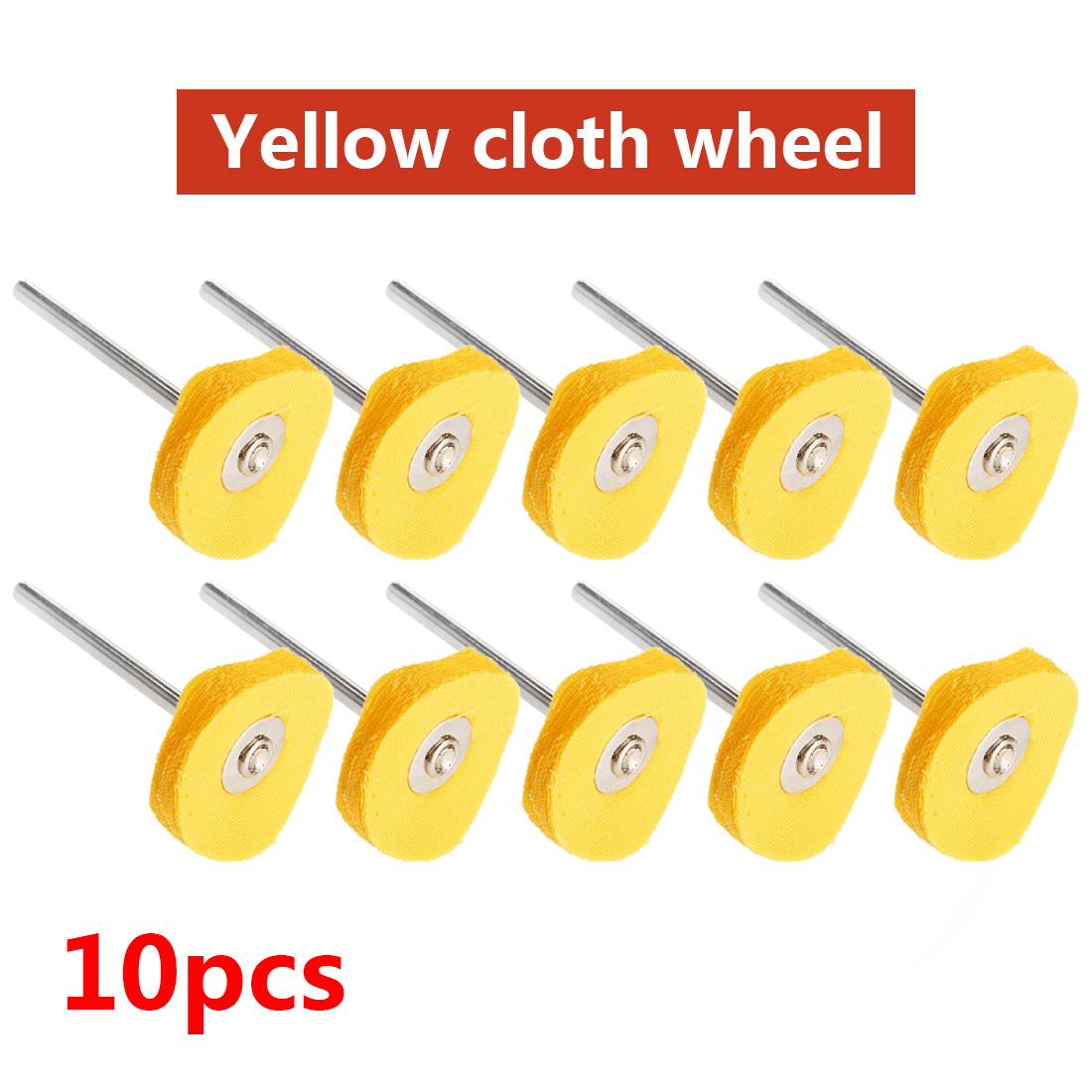10pcs 2.35MM Shank T Style Polish Buffing Wheel Grinding Head Cloth Wheel Grinder Brush For Rotary Dremel Accessories