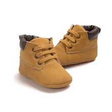 2017 Spring / Autumn Infant Baby Boy Soft Sole PU Leather First Walkers Crib Shoes 0-18 Months