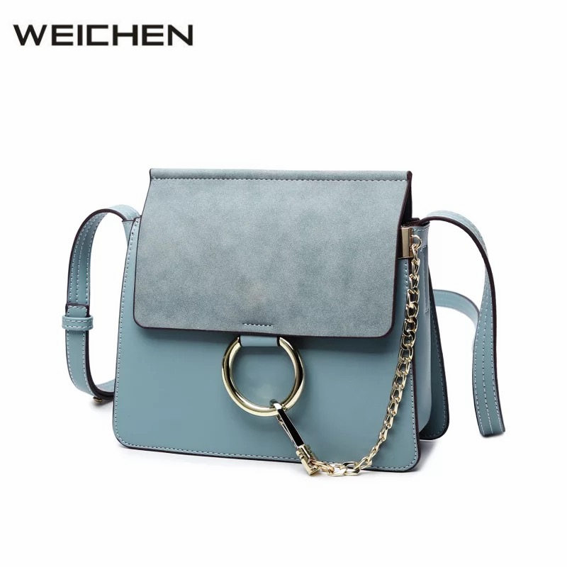 2018 Summer Metal Ring Women's Messenger Bags Solid Scrub Leather Women Shoulder Bag Small Flap Bag Casual Girl Crossbody Bags 2017 summer metal ring women s messenger bags solid scrub leather women shoulder bag small flap bag casual girl crossbody bags