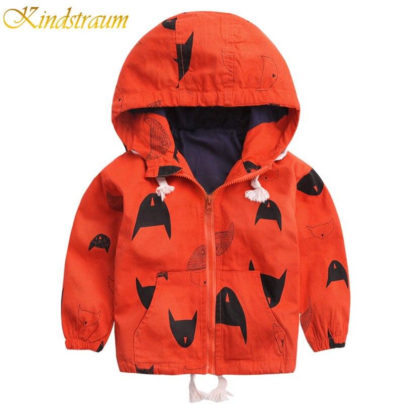 Kindstraum/Новинка 2017 года Детские пальто для детей от 18 месяцев до 8 лет модная детская куртка-бомбер куртка с капюшоном Весенне-осенняя верхняя ...
