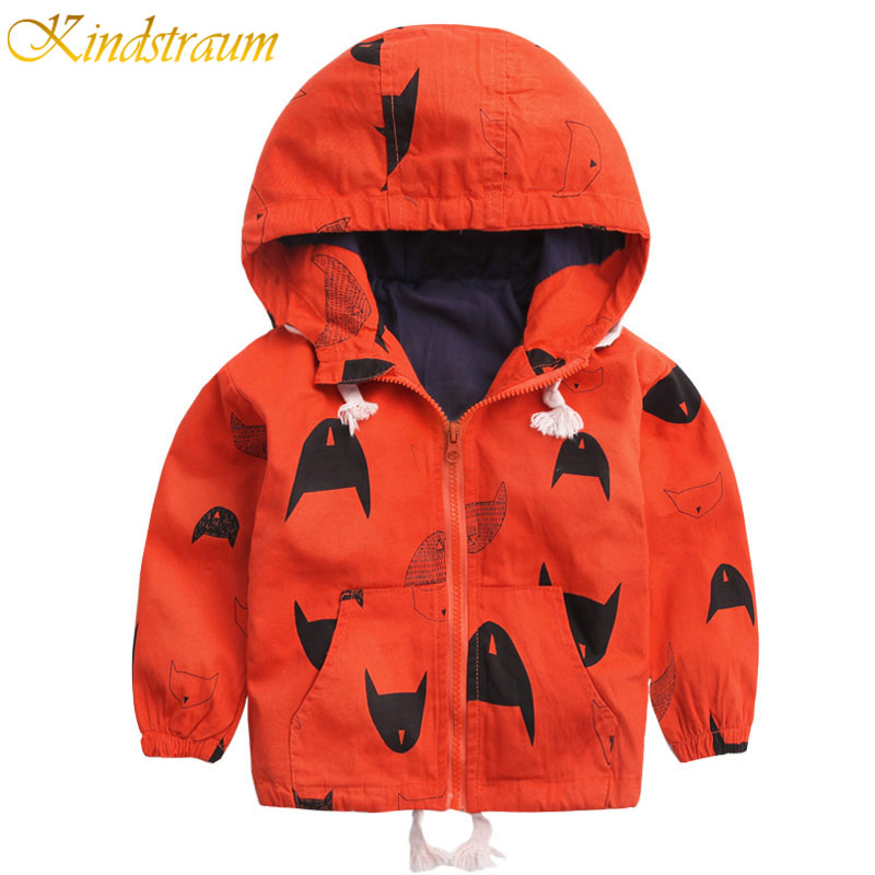 Kindstraum 2017 Nuevos 18M-8Y Abrigos para niños Chaqueta con capucha de bombardero para niños Primavera y otoño Chaqueta cortavientos para niños, MC396