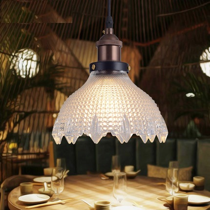 RH Loft Style Iron LED Pendant Light Fixtures Edison Industrial Vintage Lighting For Living Dining Room Glass Hanging Lamp rh loft vintage copper base edison led bulb iron shade ceiling hanging industrial pendant lamp light lighting e27 e26 110v 220v