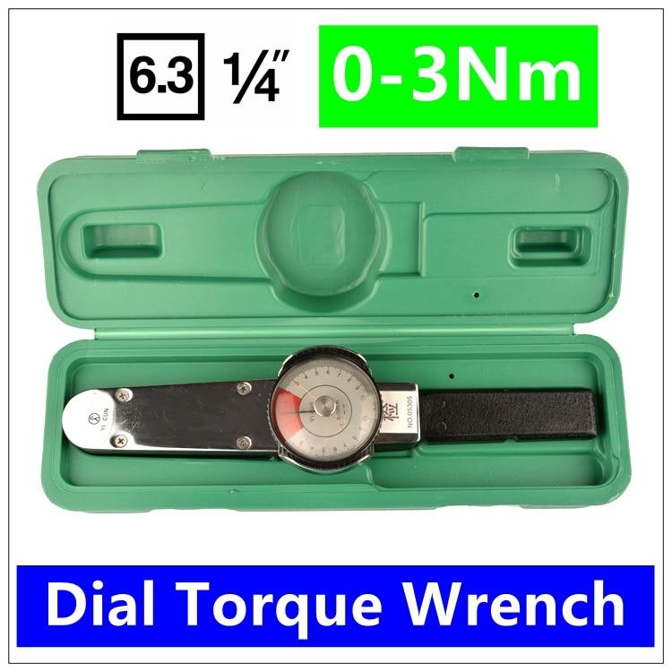 MXITA   1/4 0-3Nm Dial Repairing tools Dial Digital torque wrench High precision pointer