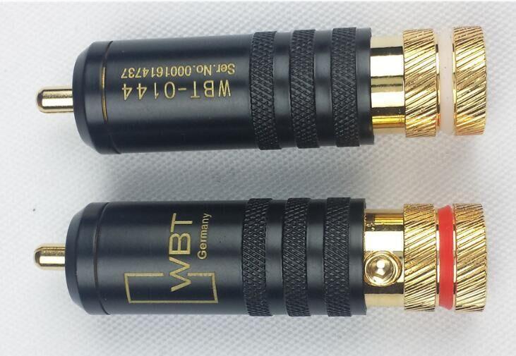 Free shipping WBT-0144 Gold plated RCA plug 4pcs/lot wbt 0152 ag nextgen silver rca phono plugs pack of 4pcs free shipping