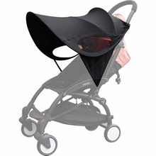 Universal Baby Stroller Accessories Sun shade Sun Visor Canopy Cover UV Resistant Hat fit Babyzenes Yoyo Yoya+ Pushchair Pram(China)