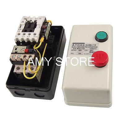 Three Phase 3Pole 12.5-18A 5.5KW 7.37HP Magnetic Motor Starter 380V Coil overload protection 3pole 12 18a motor