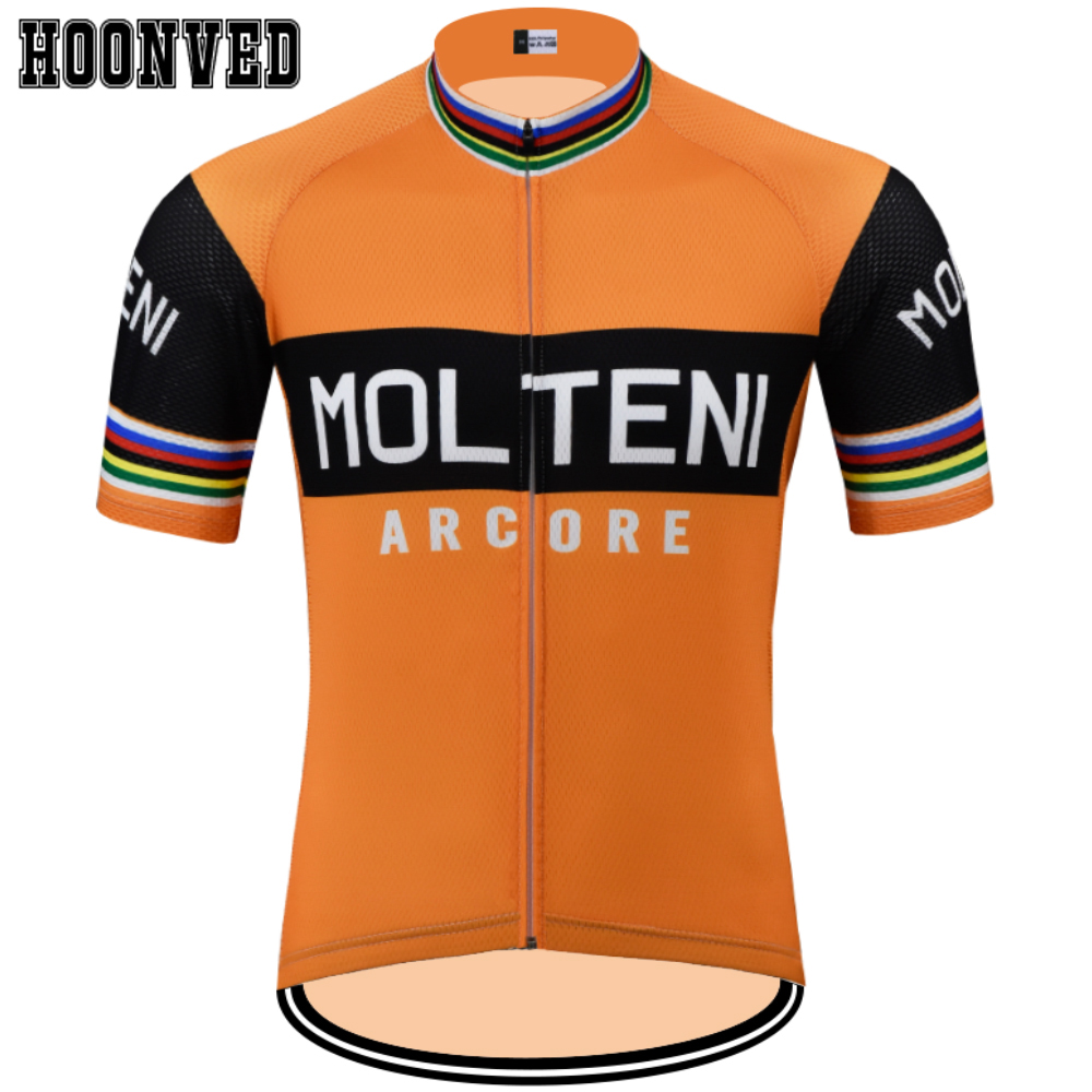 ROAD DREAMER Go Pro Man Retro MOLTENI Cycling Jersey Short Sleeves Clothing Summer