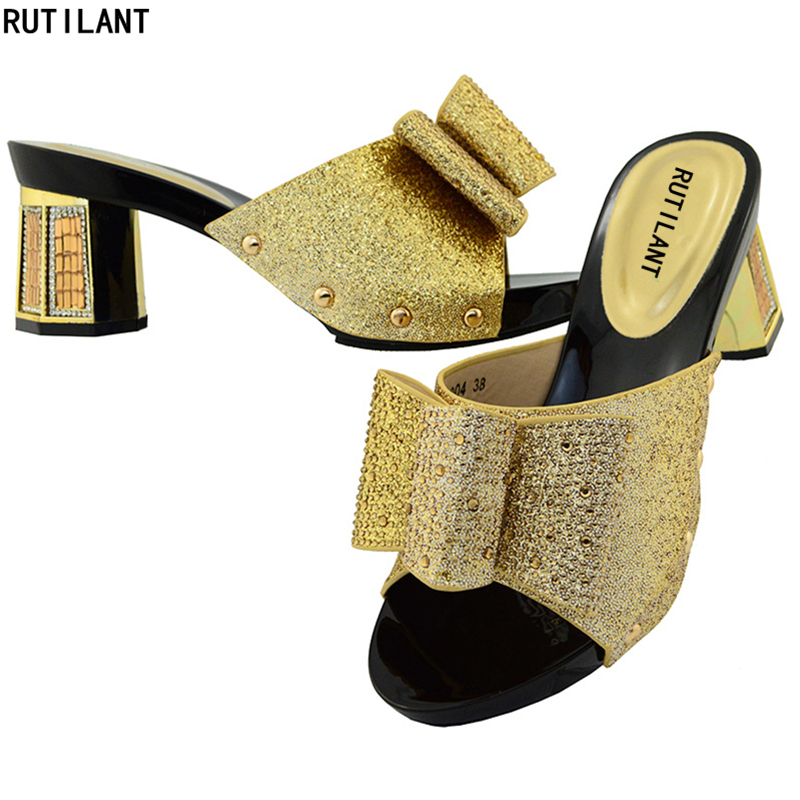 pourpre Femininoshoes Sapato Pourpre or rouge Noir Pour Femmes Elegent Dame Strass Parties Dernières Chaussures Africain argent Nigérian Pompes Italien AqIatwf