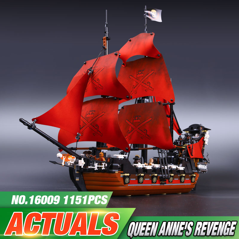 New font b LEPIN b font 16009 1151pcs Queen Anne s revenge Pirates of the Caribbean