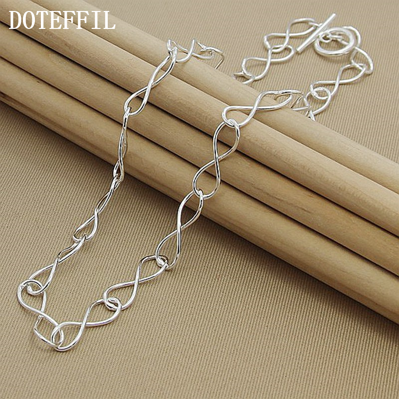 Necklace Simple 8 Shaped Collar Choker Ss