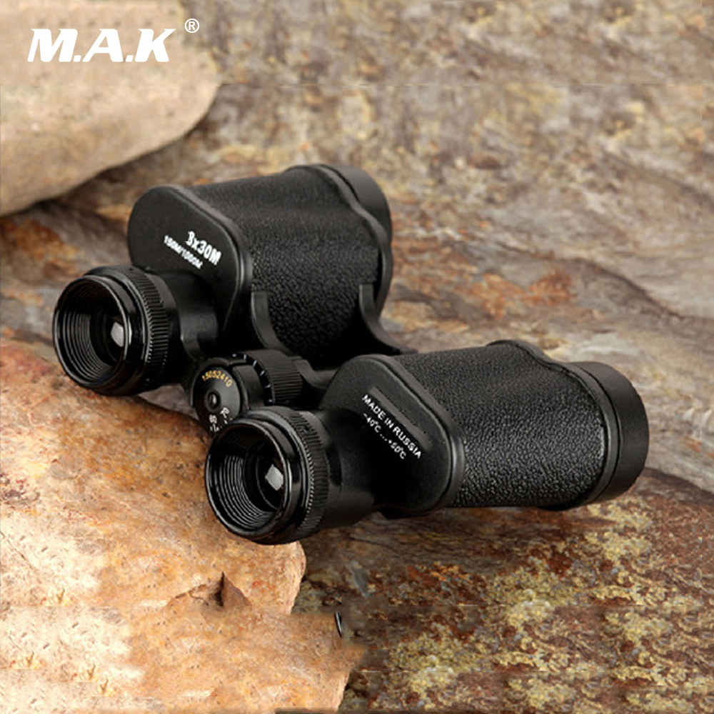 8X30 Russian Hd Wide angle Central Zoom Military Metal High definition Binoculars Telescope Prism Zoom Lens