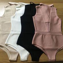 Мода лето сексуальный черный белый бежевый пыльно-розовый v образным вырезом повязки боди дропшиппинг платье+ костюм