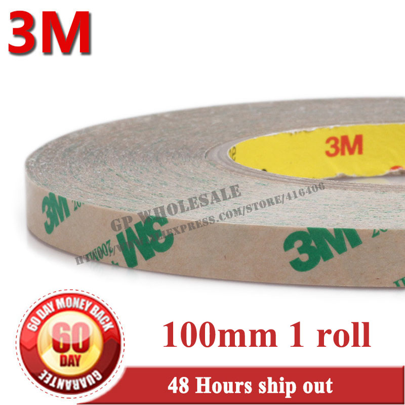 100mm*55m 1Roll 3M 468 468MP 200MP Double Adhesive Sided Transfer Tape For Touch Screen Iphone LED LCD Nameplate Free Shipping