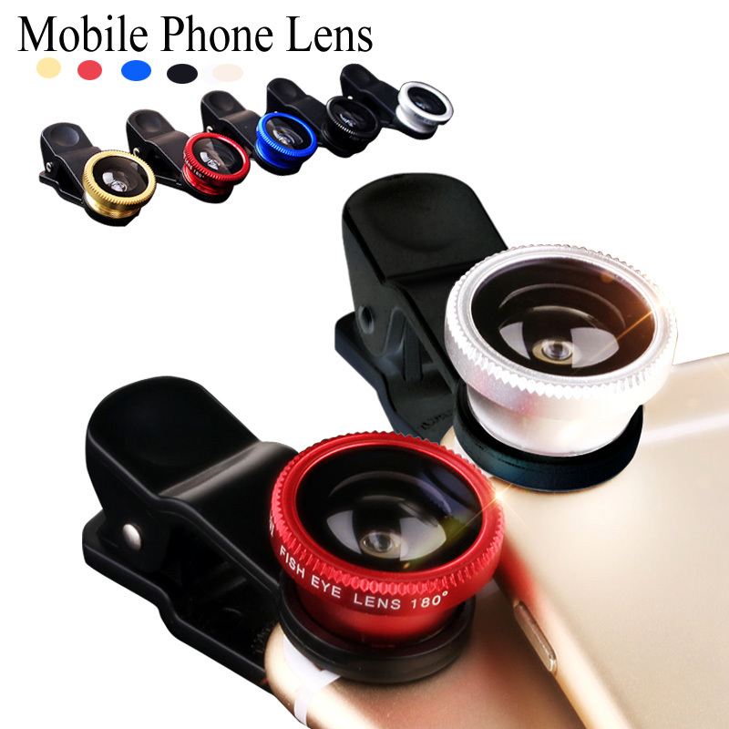 For MOTO G G2 E E2 X2 droid turbo Maxx X PLAY fisheye macro wide angle 3 in 1 universal clip metal + glass phone camera lenses