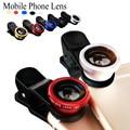 Para moto g g2 e2 e x2 droid turbo maxx x jogar fisheye grande angular macro 3 em 1 clipe universal câmera do telefone de metal + vidro lentes
