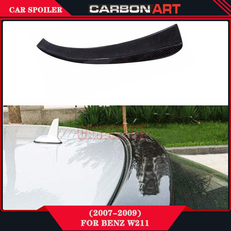 Auto Carbon Fiber Rear Spoiler For Mercedes E Class W211 2007 2008 2009 E200 E260 E300 E320 E350 E400 mercedes actros 1844 2009