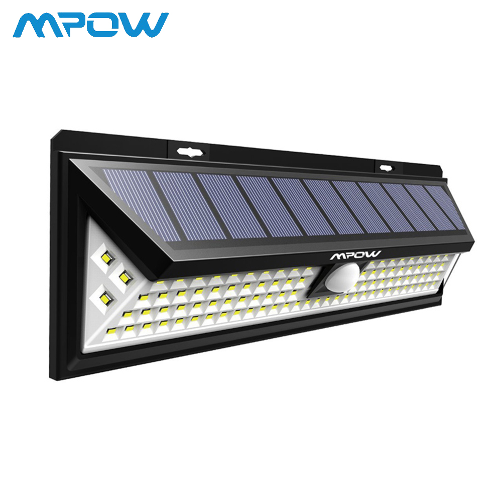102 LED Solar PIR Motion Sensor Wall Light Outdoor Garden Lamp Waterproof Lot