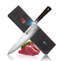 TUO столовые приборы шеф повар Ножи японский Дамаск AUS 10 HC Нержавеющаясталь Кухня Ножи Эргономичный G10 ручка с подарочной коробке 9,5''