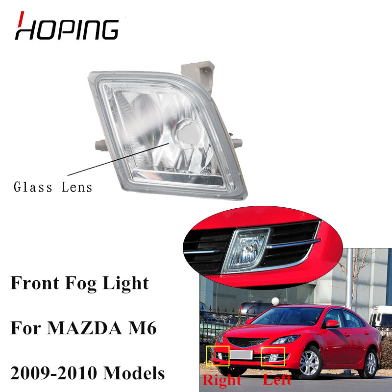 Hoping Car fog lights front bumper driving fog lamps For <font><b>MAZDA</b></font> <font><b>6</b></font> 2009 <font><b>2010</b></font> GS3L-51-680 GS3L-51-690 foglights Without bulb image