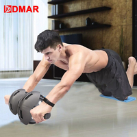 DMAR Sport Abdominal Wheel Muscle Trainer Gym Ab Roller With Mat Press For Exercise Fitness Machine Workout  Belly Core Trainer
