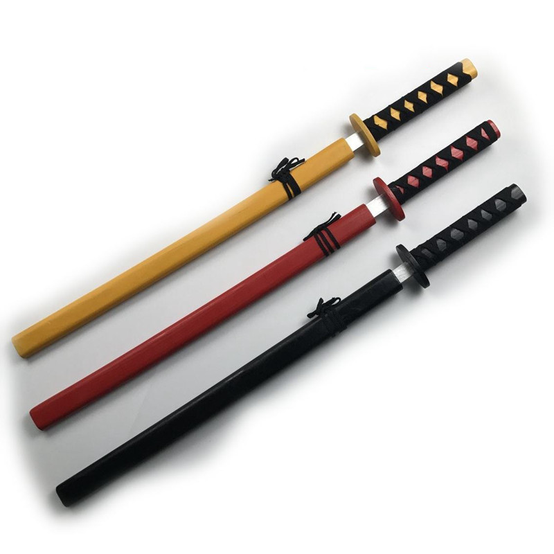 1Pc 73CM Japanese Children's Wooden Sword Toys Sword Katana Toy Japanese Wooden Knife Sword Toys For Kids Random Color