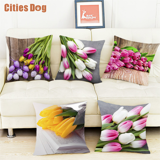 Pillow Flower Tulips Wedding Flowers Decorative Pillows White Velvet Mesmerizing Fabric For Decorative Pillows