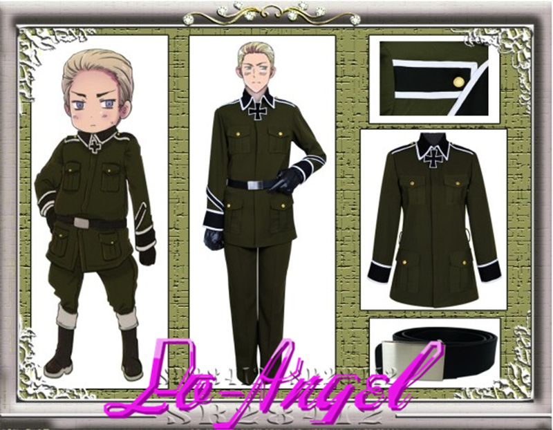Anime Axis Powers Hetalia Germany Military Uniform Cosplay Costume Customized Size
