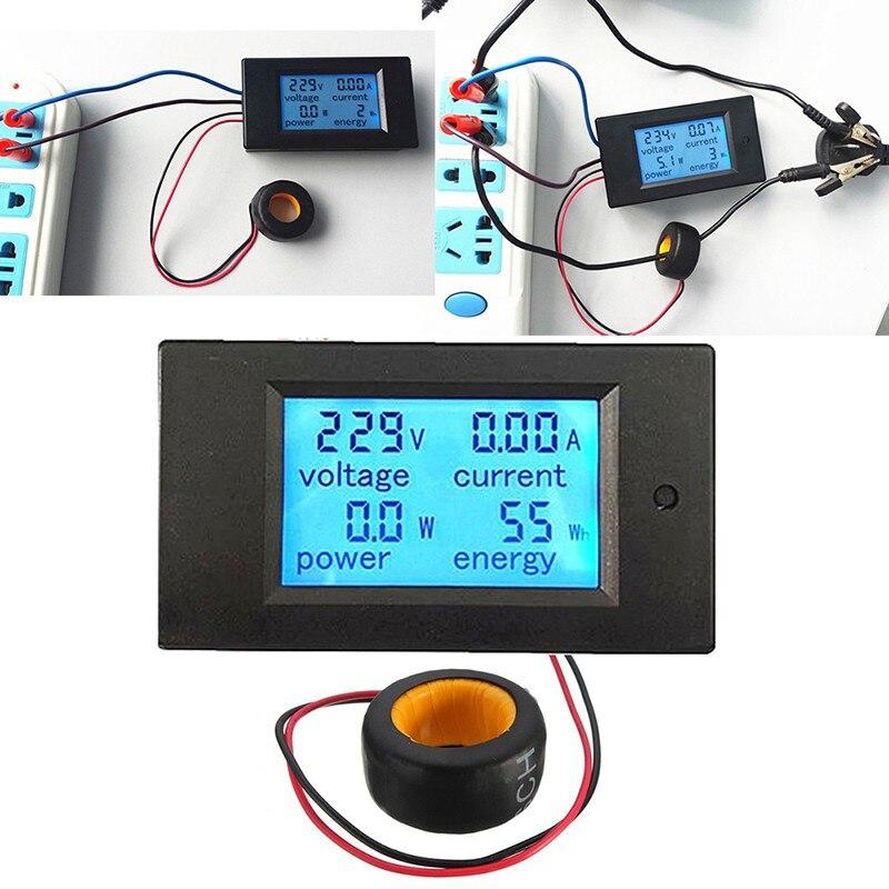 Qualidade Digital AC Tensão Metros 100A/80 ~ 260 V de Alimentação de Energia Voltímetro Amperímetro Volt Medidor de Watt Amps Atuais Painel LCD Monitor
