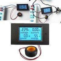 Qualité Numérique AC Tension Mètres 100A/80 ~ 260 V Puissance D'énergie Voltmètre Ampèremètre Watt Actuel Ampère Voltmètre LCD Moniteur à Écran