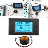 Quality Digital AC Voltage Meters 100A 80 260V Power Energy Voltmeter Ammeter Watt Current Amps Volt