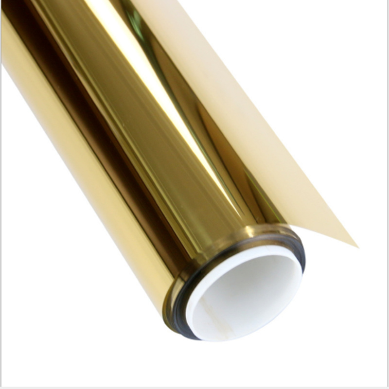 100cm x 300cm or et argent miroir unidirectionnel fenêtre Film teinte solaire résistant au soleil réfléchissant verre autocollant