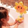 Niños accesorios bright color de girasol de plástico grifo de la ducha de baño divertido juguetes nueva venta caliente al por menor de juguetes