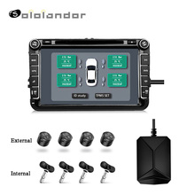 USB Android TPMS Car Tire Pressure Monitoring System Display 4 External/Internal Sensors Android Navigation Tire Pressure Alarm large size screen monitors car tire pressure monitoring system car tpms usb connecting android dvd mp5