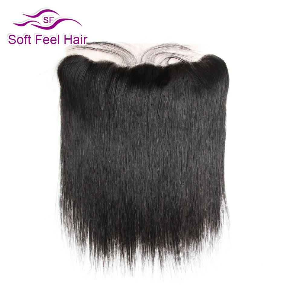Pehmeä tunne hiukset Brasilian suora etuosa 13x4 korvan korvan pitsi edessä sulkeminen vauvan hiukset vapaa keskiosa Remy ihmisen hiukset