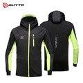 Мужская ветрозащитная велосипедная куртка Outto с капюшоном на молнии, водонепроницаемая ветровка с длинным рукавом, зимнее теплое спортивно...