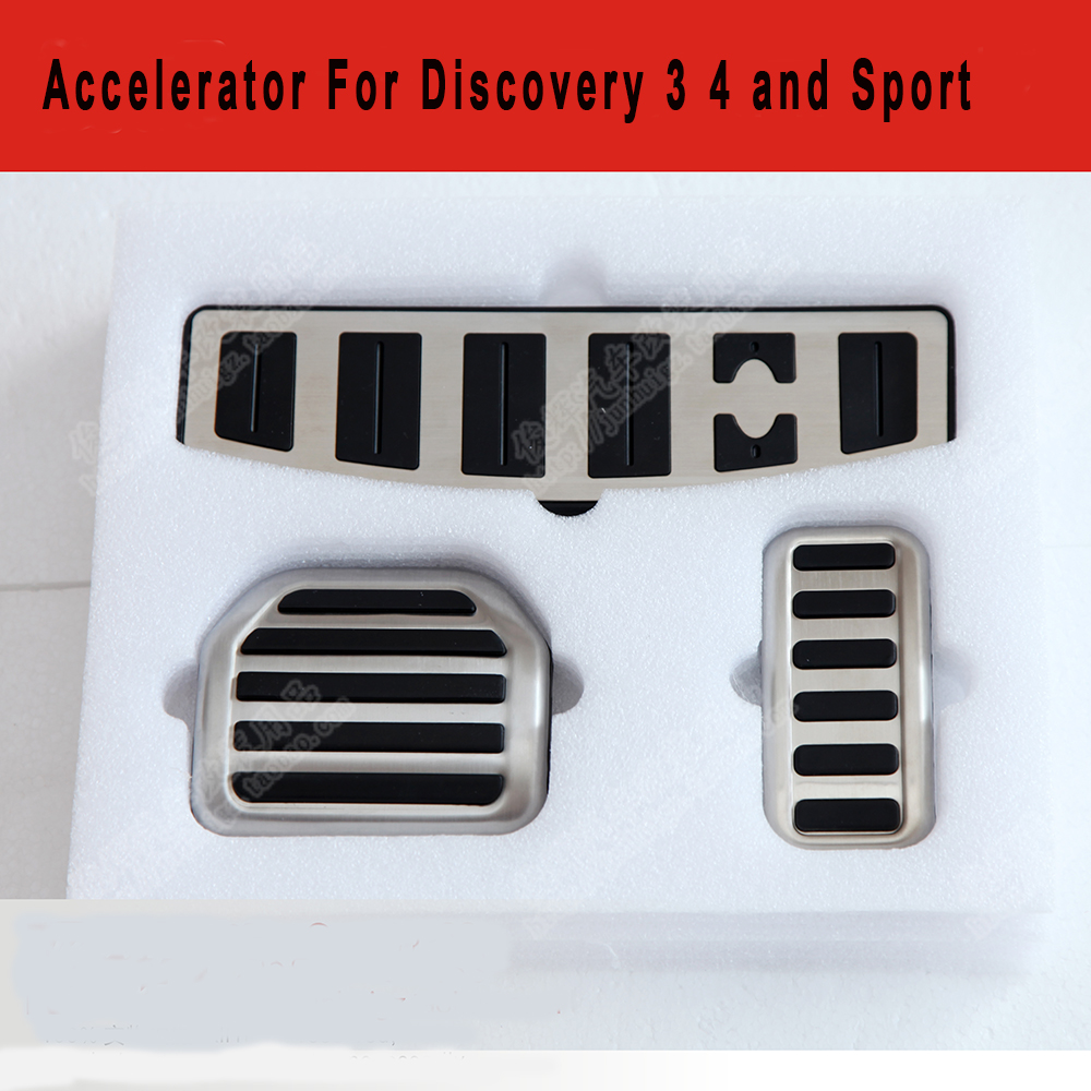 3pcs accelerator pedal Throttle brakes Foot pedal plate for Land range Rover Discovery 3 4 2006 2007 2008 2009 2010 2011 2012 polarlander good quality 8k1927225c car parking button hand brake switch brake switch replacement for au di a4l b8 q5