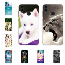 For Huawei Honor 8C Phone Cover Soft Silicone Case Fashion Geometric Patterned 8 C Shell Bumper