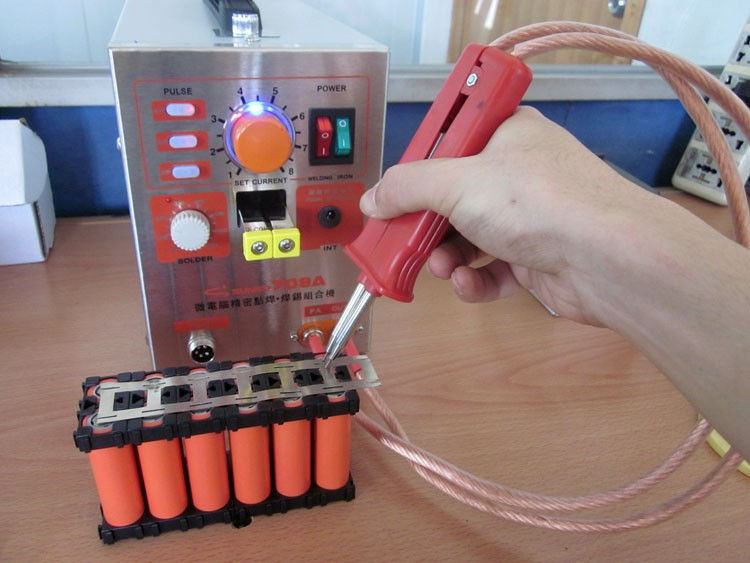 NEW 1 9KW Battery Spot Welder Welding Machine for Notebook Mobile phone 18650 16340 14500 Battery