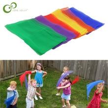 6 цветов детские шарфы для гимнастики для игр на открытом воздухе игрушки/дети ребенок родитель интерактивный платок развивающие игрушки GYH