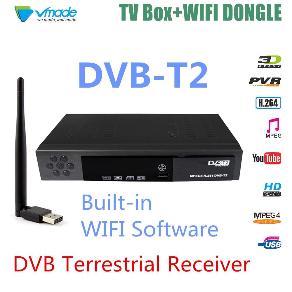 Новый DVB T2 наземный ресивер Поддержка Newcamd iks FTA satelital H.264/MPEG-4 для Европы России с USB wifi7601 телеприставка