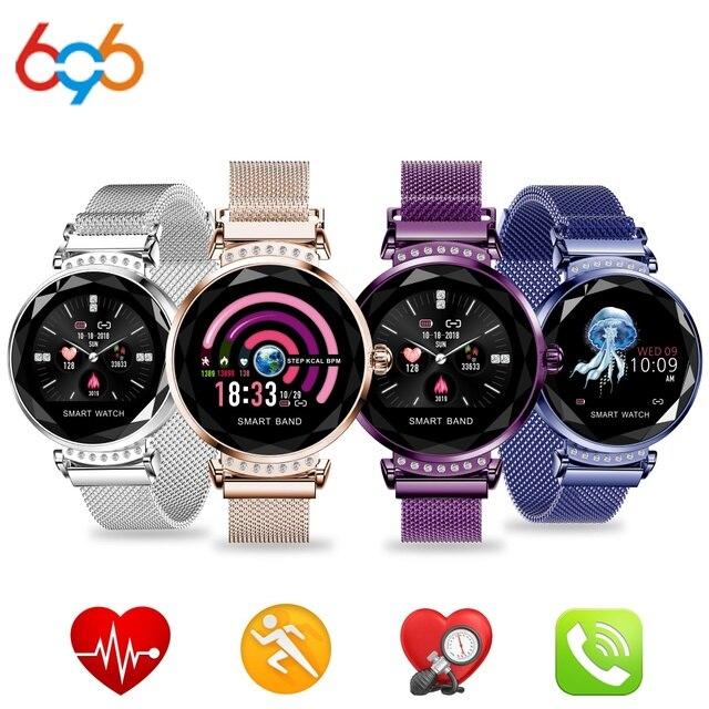 696 H1/H2/H8 Smart Watch Bracelet Heart Rate Blood Pressure Watch Pedometer Waterproof Fitness Activity Tracker Women Bracelet