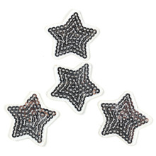 Bling Sequined Five Stars Diy Accessory Sequins Applique Patches For Clothing Iron-on Cloth Bag Dress Stickers Decoration Etc.