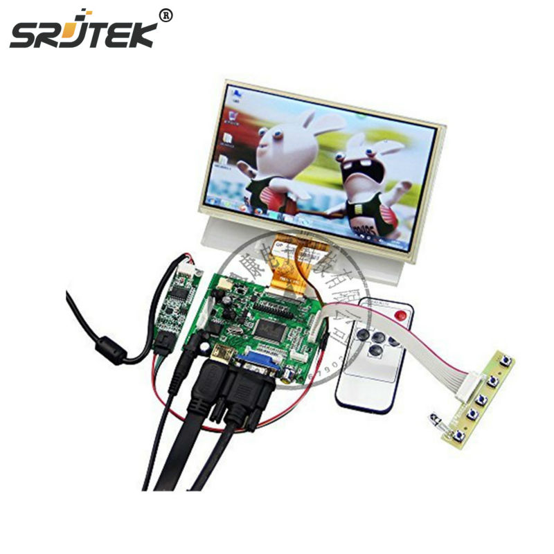 7 Inches For Raspberry Pi LCD Touch Screen Display TFT Monitor with Touchscreen Kit HDMI VGA Input Driver Board 9 inches for raspberry pi lcd display screen tft monitor at090tn12 with hdmi vga input driver board controller